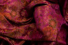 #brocade #floral #fuchsia #orange #chocobrown #gold #antique #gold #textile #fabric #luxury #rich
