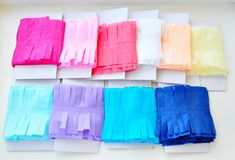 Paper Streamers, Streamers for Party, Fringe Photo Backdrop, Fringe Streamers - Party Decorations Streamer Party Decorations, Paper Streamers, Party Supplies, Backdrops, Bridal Shower, Birthday Parties, Paper Envelopes, Colors, Shower Party