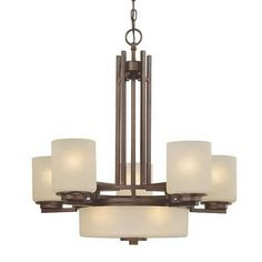 Dolan Designs 8-Light Chandelier with Five Arms and Center Downlight | 2880-62 | Destination Lighting