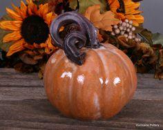 Hand Sculpted Ceramic Pumpkin from Hurricane Pottery