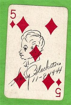 Raleigh Magic Card signed by Blackstone the Magician (1944)