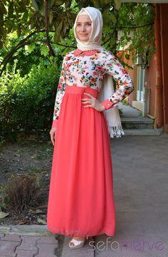 Elbise ZRN 5169-02 Krem