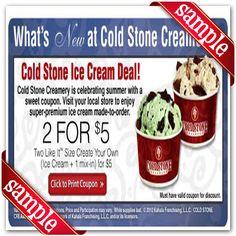 Printable cold stone creamery Coupon November December 2015 2016