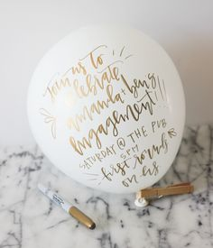 DIY: balloon party invitation