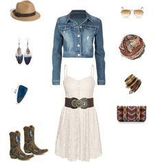 Polyvore I'm not a country girl, but I LOVE this outfit. Minus the boots.