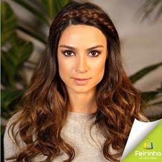 Trança Suíça é uma das tendências para você usar em seu cabelo nesse inverno! Essa trança é formada por duas tranças no pescoço e assim que terminadas, são unidas na parte superior da cabeça, parecendo uma coroa!   #Linda #Princesa #Tendência #FeirinhadaConcórdia #ficaadica