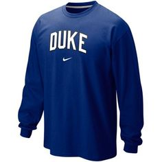 Nike Duke Blue Devils Classic Arch Long Sleeve T-Shirt - Duke Blue