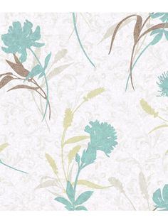 A bright textural blossom predominates against a shadowy scrolling field with a smattering of contrasting grasses for additional interest. This wallcovering has a wild botanical quality and blends perfectly with many other papers including Damask Stripe and Ombre Ogee Damask. The four palettes include aqua or coral, among others, all with appropriate and flattering contrast.