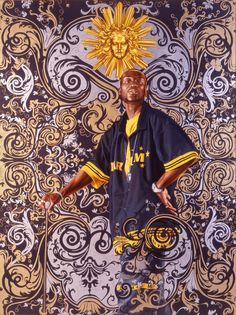 "Available for sale from Alpha 137 Gallery, Kehinde Wiley, ""Andries Stilte"", cotton Beach Towel (ca. Silkscreen on Cotton Large Beach Towe… African American Artist, American Artists, Seattle Art Museum, Kehinde Wiley, Black Artists, Tribal Art, Figure Painting, Artist At Work, Figurative Art"
