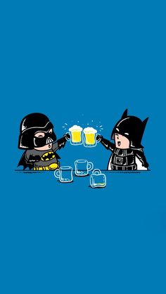 Darth Vader & Batman; iPhone Wallpaper.