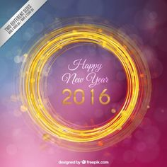 Círculo dourado ano novo fundo roxo Vetor grátis