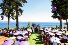 Love the parosols!  Lake Tahoe Wedding | Fitzhaven Fête by One Fine Day Events