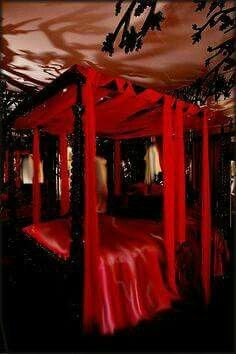 Red and Black Bedroom Design. Red and Black Bedroom Design. Red Black and White Bedroom Black Bedroom Design, Bedroom False Ceiling Design, Modern Bedroom Furniture, Gothic Interior, Gothic Home Decor, Interior Exterior, Red Black Bedrooms, Red Rooms, Boys Bedroom Colors