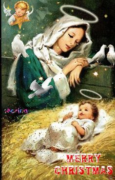 Mother Mary Images, Images Of Mary, Free Images, Blessed Mother Mary, Blessed Virgin Mary, Jesus Mother, Christmas Nativity Scene, Christmas Scenes, Merry Christmas