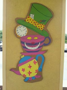 My favorite, some of my Mad Hatter Tea Party Decoration.