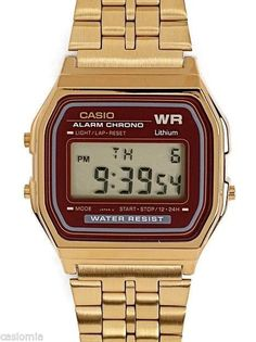 Casio A159WGEA-5 Mens Gold Tone Stainless Steel Digital Watch Vintage Retro NEW #Casio #Dress