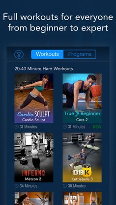 DailyBurn - Video Workouts by DailyBurn Fun Workouts, At Home Workouts, Beginners Cardio, Daily Burn, Hard Workout, Best Apps, For Everyone, Kettlebell, Workout Programs