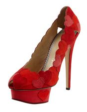 Charlotte Olympia Love Me Heart-Applique Pump http://www.thecoveteur.com/the-edit/love-is-in-the-air