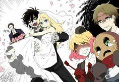Satsuriku No Tenshi Angel Of Death, Couple Manga, Manga Anime, Anime Art, Mad Father, Ange Demon, Satsuriku No Tenshi, Rpg Horror Games, Witch House