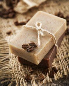 Homemade bath soap...<3 chocolate and coffee soap.