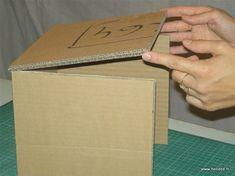 Carton - Assembly Tutorial (Part - Creating Cardboard Furniture - Diy Cardboard Toys Cardboard Paper, Cardboard Furniture, Cardboard Crafts, Diy Paper, Diy Gift Box, Diy Box, Diy Storage, Diy Organization, Carton Diy