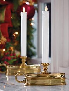 Set a cheerful mood this holiday season witht he Set of Two Dream Window Candles; maintenance and worry-free decor done elegantly.