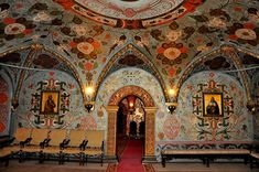 Inside one if the most closed to public places of the historical part of the Kremlin - Terem Palace's interior. In medieval Russia sisters and daughters of Moscow grand princes live there ('terem' means dwelling). Today this place belong to the official residence of The President of Russia.