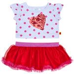 Sequin Heart Dot Tee & Tutu Outfit 2 pc.