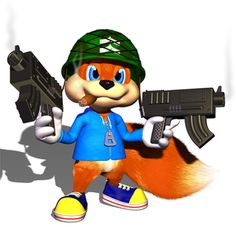 Conker the Squirrel (conkers bad fur day) Beast Boy, Video Game Art, Video Games, Rendering Art, Diddy Kong, Super Mario Art, Conkers, Shadow The Hedgehog, Mario And Luigi