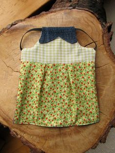 Clementine Chicken Saddle Pinafore Chicken Apron Hen by pipodoll, $15.00