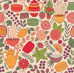 Macarons Pattern on Behance