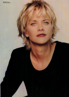 Meg Ryan in French Kiss with a cute short haircut.