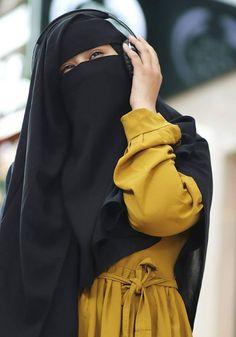 Hijab Niqab, Muslim Hijab, Mode Hijab, Hijab Outfit, Arab Girls Hijab, Muslim Girls, Hijabi Girl, Girl Hijab, Niqab Fashion