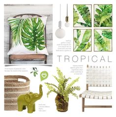 """Tropical"" by c-silla ❤ liked on Polyvore featuring interior, interiors, interior design, home, home decor, interior decorating and Barclay Butera"