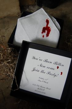 Bloody Vampire Handkerchief Invitation « THEBASICSbypaulbyrondowns's Blog