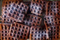 deep dark gingerbread waffles   smittenkitchen.com