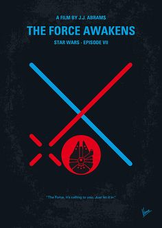 No591 My Star Wars Episode Vii The Force Awakens Minimal Movie Poster Print By Chungkong Art