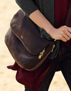 Our Preston Flap handbag in classic black.