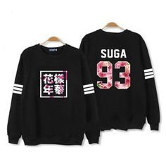 Kpop BTS In Bloom pt2 Album Sweater black Bangtan Boys Hoodies Unisex Merchandise