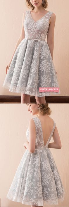 Only $109, Prom Dresses Short A Line All Lace Prom Dress With Double V Neck For Juniors #CH6669 at #GemGrace. View more special Special Occasion Dresses,Prom Dresses,Homecoming Dresses now? GemGrace is a solution for those who want to buy delicate gowns with affordable prices. Free shipping, 2018 new arrivals, shop now to get $10 off!