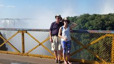 """My husband and our daughter at """"the falls,"""" circa 2015"""