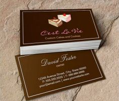 Custom Cakes and Cookies Dessert Bakery Shop Business Card This great business card design is available for customization. All text style, colors, sizes can be modified to fit your needs. Just click the image to learn more! | bizcardstudio.co.uk