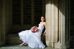 Carla, looking quite the statuesque goddess. | Anna Wu Photography | Kenneth Winston Style 1407 #kennethwinston #realbride