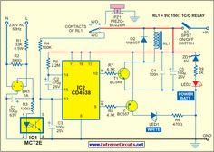 Mains Supply Failure Alarm Circuit 1Diagram