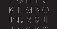 Fonts, Behance and Typography on Pinterest