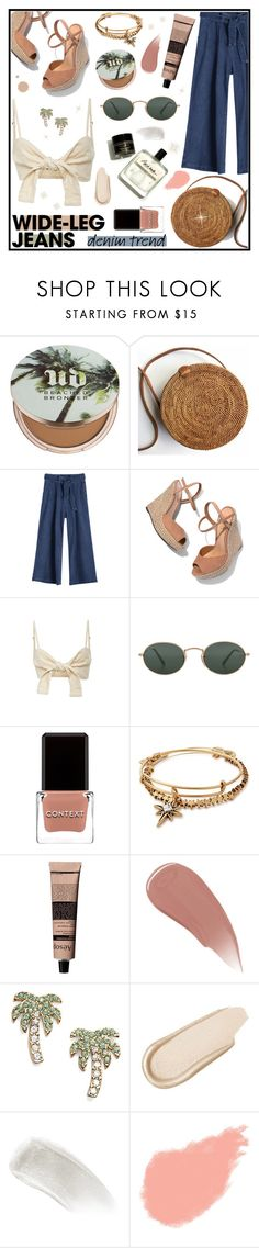 """""""Denim Trend: #WideLegJeans [No. 2]"""" by kayemjay ❤ liked on Polyvore featuring Urban Decay, Schutz, Faithfull, Ray-Ban, Context, Alex and Ani, Aesop, Burberry, Kate Spade and Charlotte Russe"""