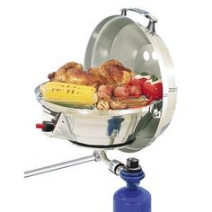 Magma Products Marine Kettle 2 Combination Stove and Gas Grill Original Size -- Check out the image by visiting the link. Boat Bbq, Boat Grill, Camping Grill, Camping Stove, Grilling, Camping Kitchen, Grill Parts, Kitchen Sale, Bbq Party