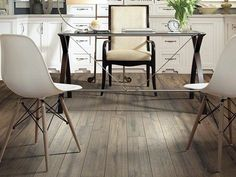 """Striking """"Hand-Scraped"""" Laminate in style """"Timberline"""" color Peavey Grey by Shaw Floors"""