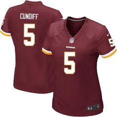 Women Nike Washington Redskins #5 Billy Cundiff Limited Burgundy Red Team Color NFL Jersey Sale