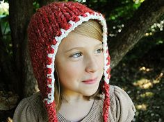 Super Chunky hat at The Mad Knitter Shop.  So Cute! Love the long tassels.